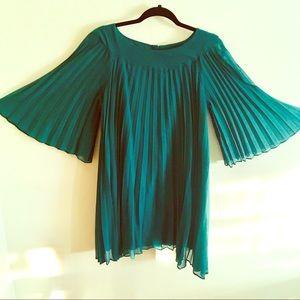 Dresses & Skirts - Vintage 50's Pleated Dress Handmade Kimono Sleeves